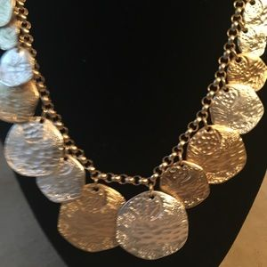 NWT AUTHENTIC TALBOT GOLD/SILVER COINS NECKLACE